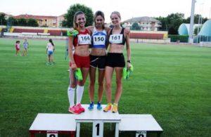 3000- Michela Cesarò del Cus Torino 2 ° Chiara Schiavon della Sisport - 3° Chiara Meliga, biellese Arcobaleno Savona
