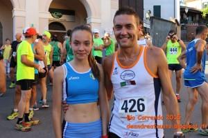 StraTrisobbio 2015 Velatta Stefano con la figlia Noemi.